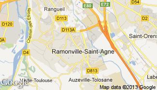 Plan de Ramonville-Saint-Agne