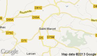 Plan de Saint-Marcet