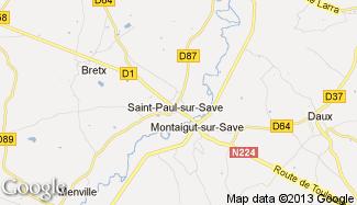 Plan de Saint-Paul-sur-Save