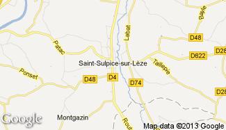 Plan de Saint-Sulpice-sur-Lèze
