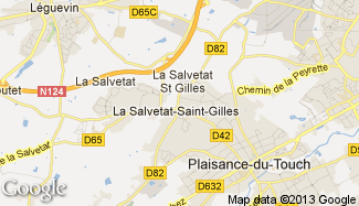 Plan de La Salvetat-Saint-Gilles