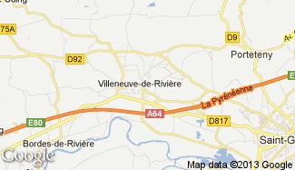 Plan de Villeneuve-de-Rivière