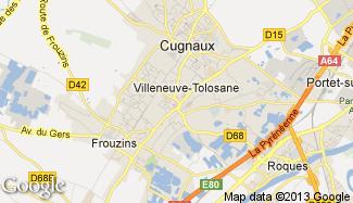 Plan de Villeneuve-Tolosane