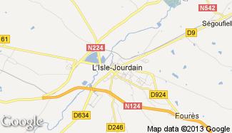Plan de L'Isle-Jourdain