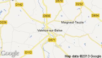 Plan de Valence-sur-Baïse