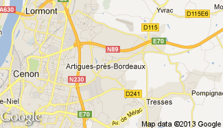 Plan de Artigues-près-Bordeaux