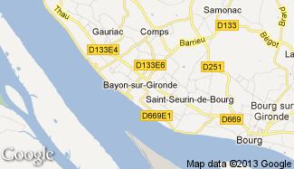 Plan de Bayon-sur-Gironde
