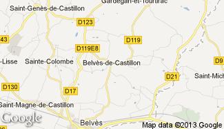 Plan de Belvès-de-Castillon