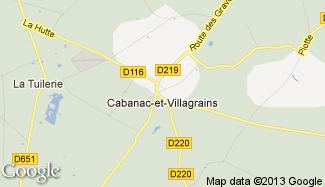 Plan de Cabanac-et-Villagrains
