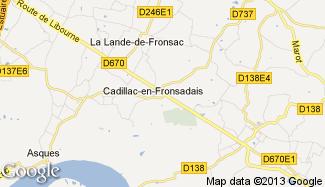 Plan de Cadillac-en-Fronsadais