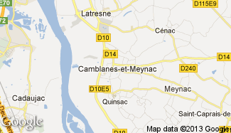 Plan de Camblanes-et-Meynac