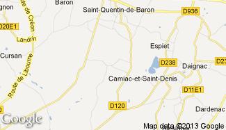 Plan de Camiac-et-Saint-Denis