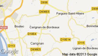 Plan de Carignan-de-Bordeaux