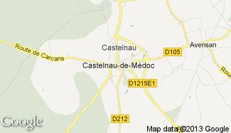 Plan de Castelnau-de-Médoc