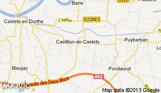 Plan de Castillon-de-Castets