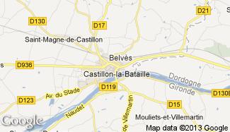 Plan de Castillon-la-Bataille