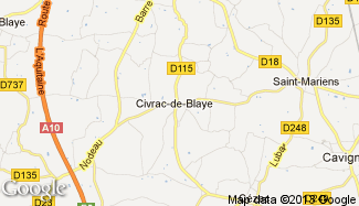 Plan de Civrac-de-Blaye