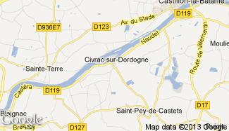 Plan de Civrac-sur-Dordogne
