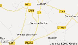 Plan de Civrac-en-Médoc