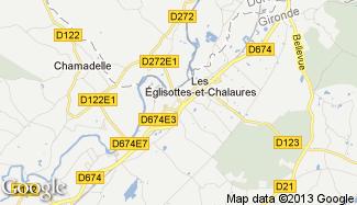 Plan de Les Églisottes-et-Chalaures