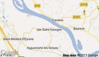Plan de Isle-Saint-Georges