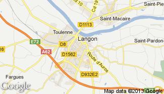 Plan de Langon