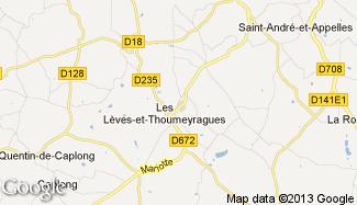 Plan de Les Lèves-et-Thoumeyragues