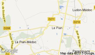 Plan de Le Pian-Médoc