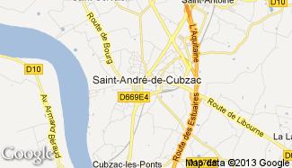 Plan de Saint-André-de-Cubzac