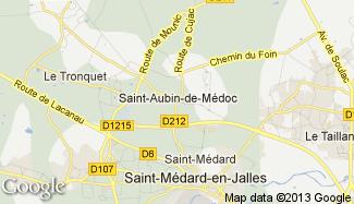 Plan de Saint-Aubin-de-Médoc