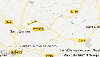 Plan de Saint-Christophe-des-Bardes