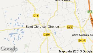 Plan de Saint-Ciers-sur-Gironde