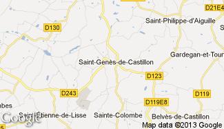 Plan de Saint-Genès-de-Castillon