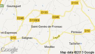 Plan de Saint-Genès-de-Fronsac