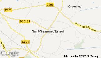 Plan de Saint-Germain-d'Esteuil