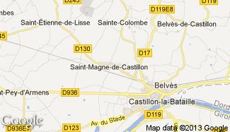 Plan de Saint-Magne-de-Castillon