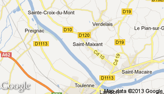 Plan de Saint-Maixant