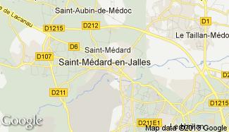 Plan de Saint-Médard-en-Jalles