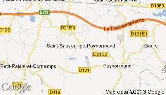 Plan de Saint-Sauveur-de-Puynormand