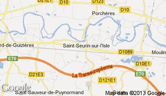 Plan de Saint-Seurin-sur-l'Isle