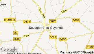 Plan de Sauveterre-de-Guyenne