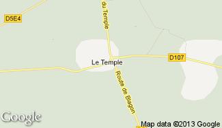 Plan de Le Temple