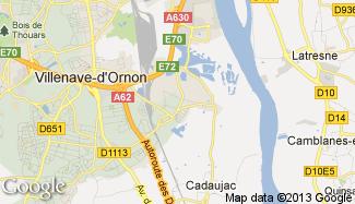 Plan de Villenave-d'Ornon
