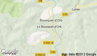 Plan de Le Bousquet-d'Orb