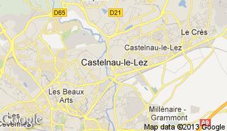 Plan de Castelnau-le-Lez