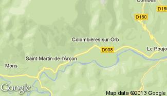 Plan de Colombières-sur-Orb
