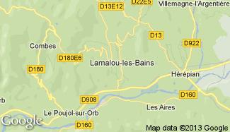 Plan de Lamalou-les-Bains