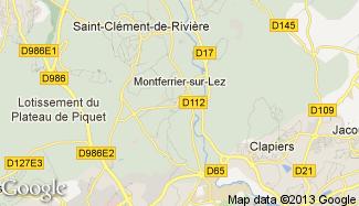 Plan de Montferrier-sur-Lez