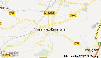 Plan de Nissan-lez-Enserune