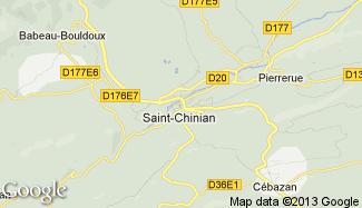 Plan de Saint-Chinian